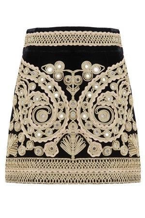 MELIE - For Love and Lemons - Ornate Paris My Love Mini skirt in velvet
