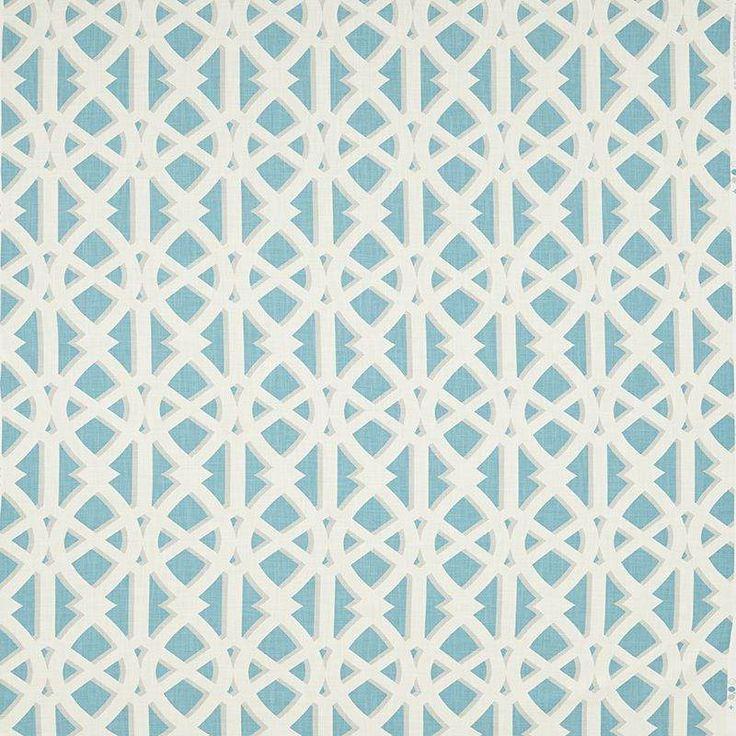 Warwick Fabrics : KENJI, Colour TURQUOISE