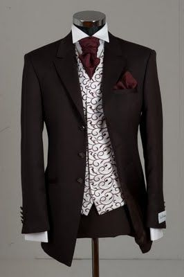 New Ideas - Brown and Burgandy Wedding Suit | The Bunney Blog
