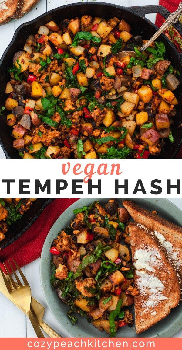 Vegan Tempeh Hash Recipe Vegan Recipes Healthy Whole Food Recipes Vegan Dinners