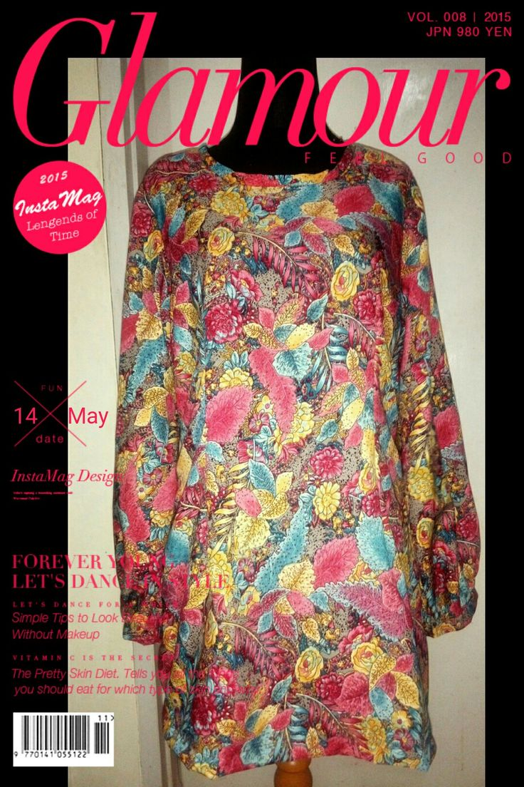 Tunic flowery with baloon sleeves