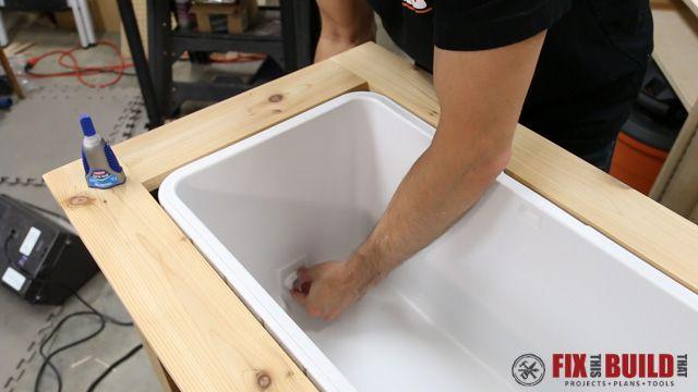 DIY Patio Cooler Grill Cart-43