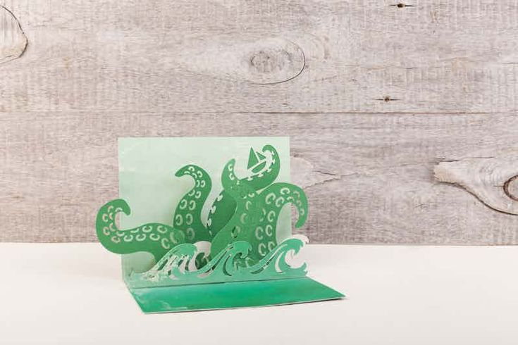 Make it Now - Sea Monster Pop-up Card, octopus card tentacles