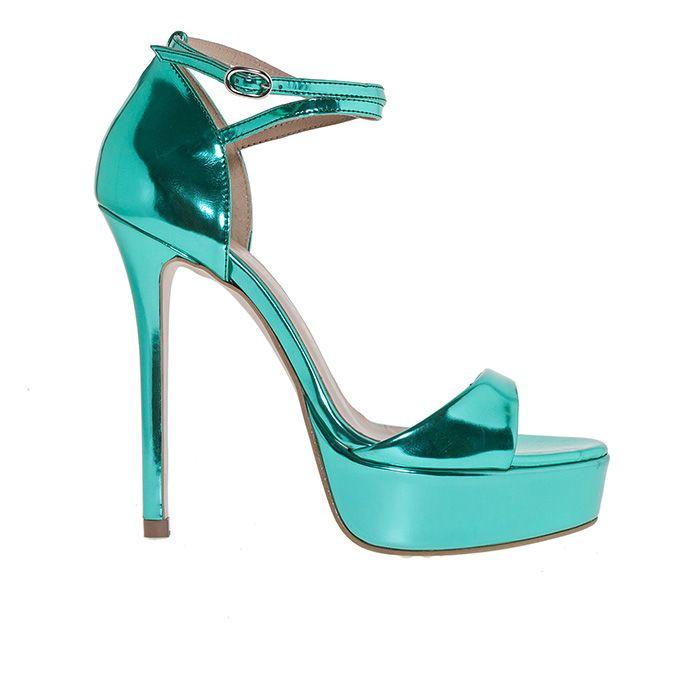 1008G01_METALLIC GREEN  www.mourtzi.com #mourtzi #metallics #shoes #sandals #fancyshoes #stylish