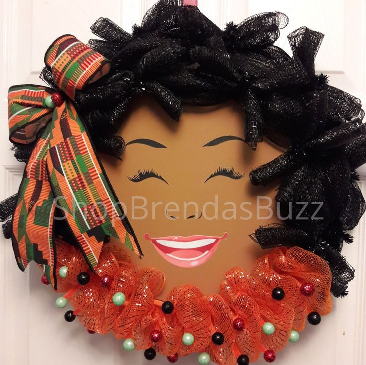 Sunny Days Afro Wreath African American Inspired Wreath