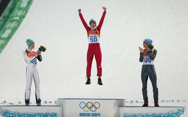 Soczi 2014. Kamil Stoch świętuje mistrzostwo olimpijskie