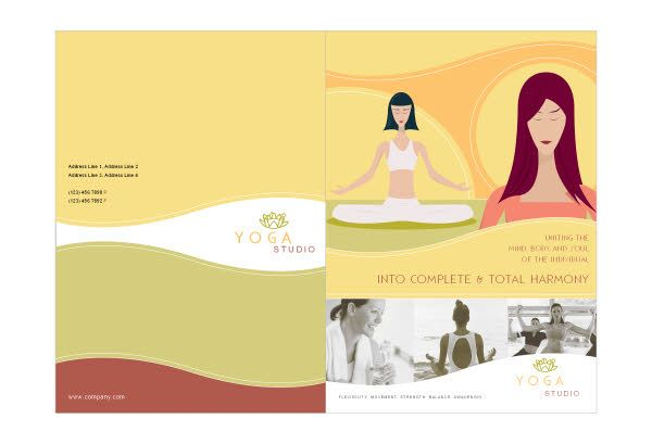 yoga brochure templates - 78 best images about print designs on pinterest