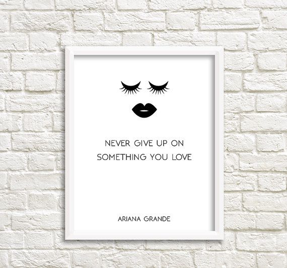 Ariana Grande Print Focus Music Lyric Poster cheap by GrafikShop