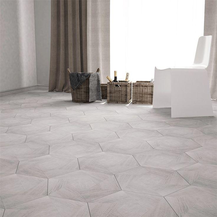 Klinker Hill Ceramic Oak Hexagon 34,6x40 cm Grey Ash - Klinker hall - Klinker