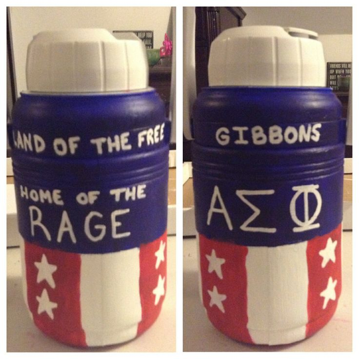 American frat cooler jug – alpha sigma phi, asp, fraternity, America, murica, ra… – gifts for my little