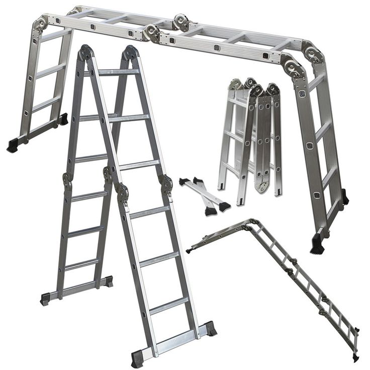 Scaffold Ladder Heavy Duty Giant Aluminum 12.5 ft Multi Purpose Fold Step Extend | Business & Industrial, MRO & Industrial Supply, Material Handling | eBay!