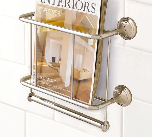 Mercer Magazine Rack Amp Paper Holder Magazine Rack Bath