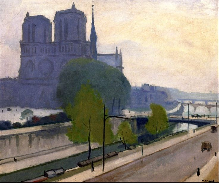 Notre-Dame, View of the Quays, Evening  Albert Marquet - 1922