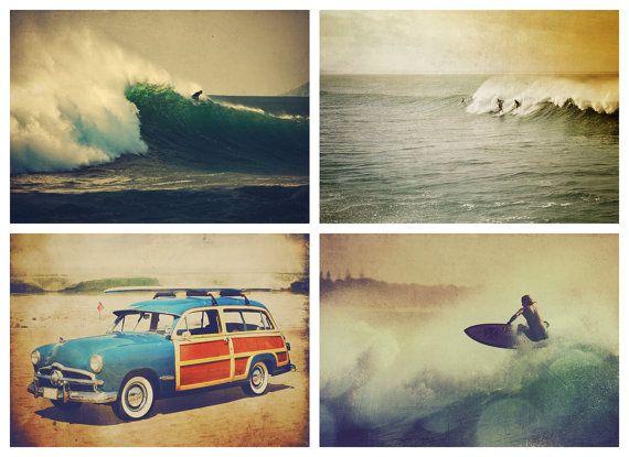 Sets Orange, Surf Art, Late Afternoon, Surf Photos, Gift Sets, Bathroom Surf, Surf Prints, Photos Gift, Afternoon Surf