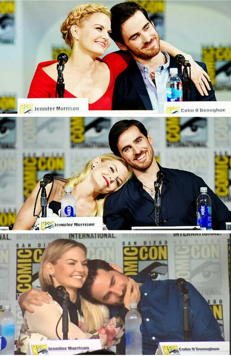 Jennifer Morrison and Collin O'Donoghue at Comic Con