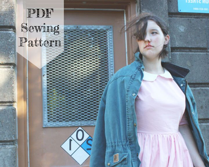 Eleven Dress PDF Sewing Pattern - Stranger Things, Halloween Costume, Cosplay, Peter Pan Collar di OhMeOhMySewing su Etsy https://www.etsy.com/it/listing/473753963/eleven-dress-pdf-sewing-pattern-stranger