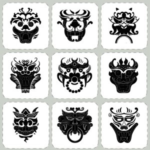 Korean Traditional Pattern Stickers Decorative Film Korean Goblin