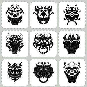 Korean Traditional Pattern Stickers Decorative Film Korean Goblin Traditional