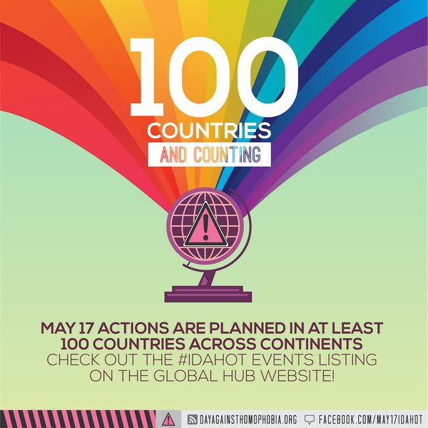 Join LGBT advocates around the world for the International Day against Homophobia and Transphobia