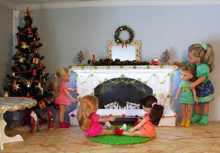 Рождественский камин для кукол / Домики для кукол, мебель своими руками. Коляски, кроватки и другое / Бэйбики. Куклы фото. Одежда для кукол