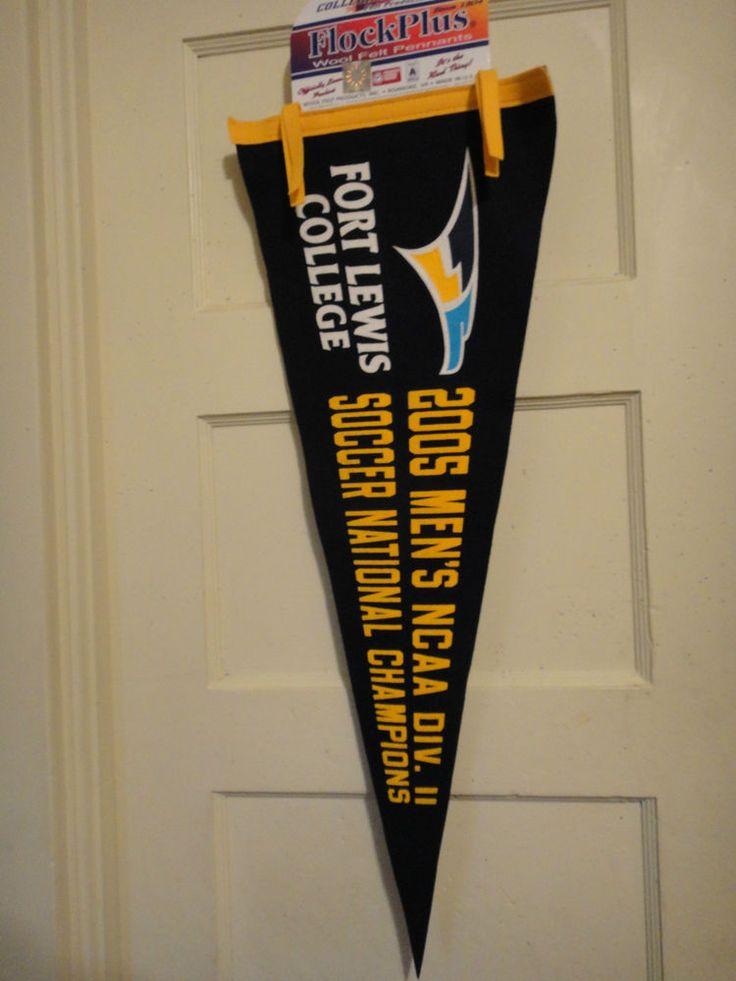 #FlockPlus Fort Lewis College 2005 Men's NCAA Div.11 Soccer National Champ Banner #FlockPlus