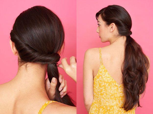 Как собрать волосы в ободок