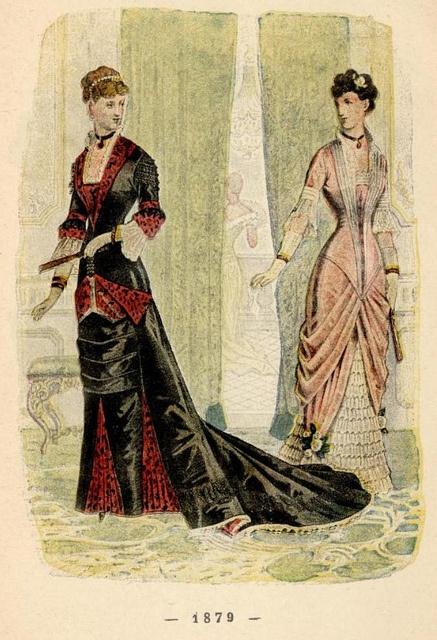 Un Siecle De Modes Feminines (Pub 1896)-1879 by CharmaineZoe, via Flickr