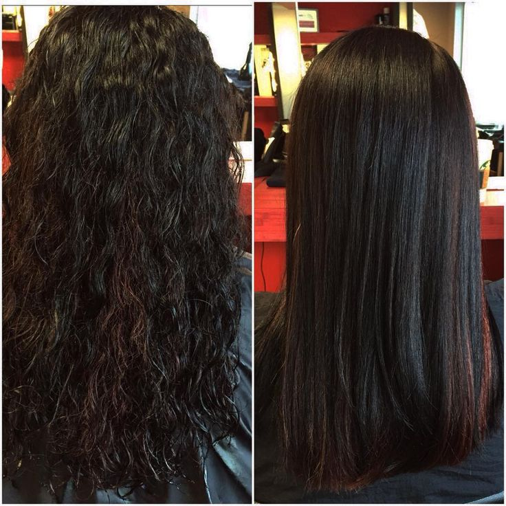 From Curly To Permanently Straight Using Liscio Japanese
