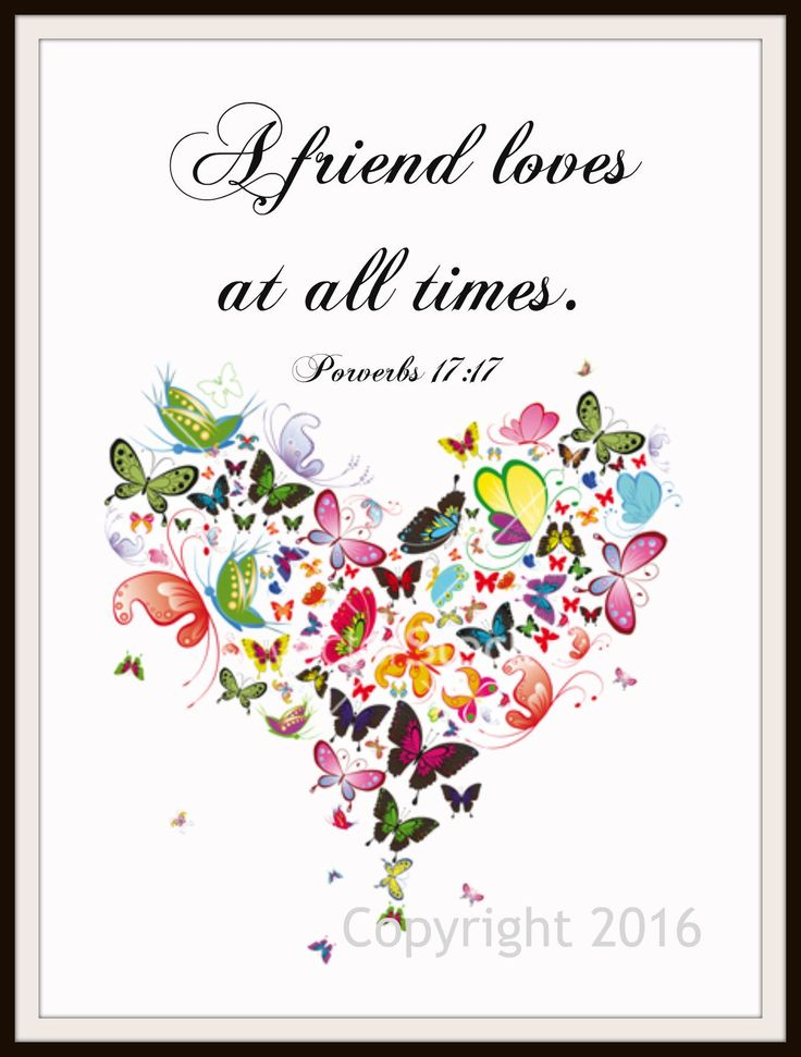 "Scripture Art Print ""A Friend Loves"", Wall Decor, 8 x 10"" Unframed Printed Art Image, Scripture Print, Motivational Quote"
