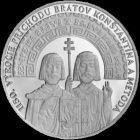 Medaila Ag 1150.výročie príchodu Konštantína a Metoda na Veľkú Moravu