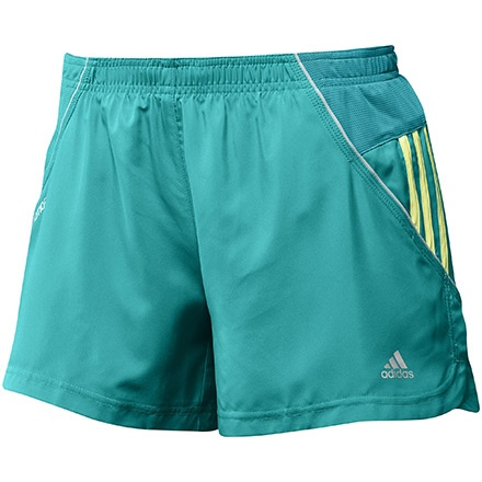 RESPONSE 3-Stripes 4-Inch Shorts Mujer, Ultra Green / Ultra Glow by adidas