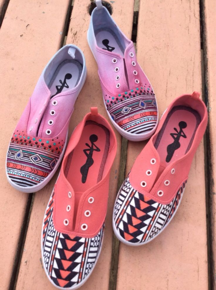 A personal favorite from my Etsy shop https://www.etsy.com/ie/listing/205293103/ombre-aztec-shoes
