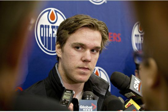 Edmonton Oilers Connor McDavid: the 18-year-old, who was first pick in the 2015 draft, didn't specify how soon he could be back, but said he was pain free and on the way to returning to the Oilers' lineup.