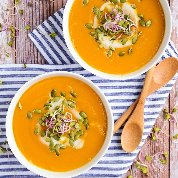 Butternut Squash & Sweet Potato Soup | vegan, gluten-free
