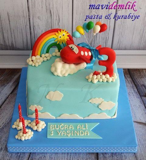 mavi demlik mutfağı- izmir butik pasta kurabiye cupcake tasarım- şeker hamurlu-kur: BUĞRA ALİ'NİN UÇAKLI 3. YAŞ DOĞUM GÜNÜ PASTASI