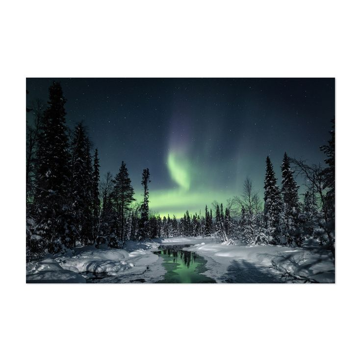 Noir Gallery Northern Lights Lapland Finland Unframed Art Print/Poster (8 x 10)