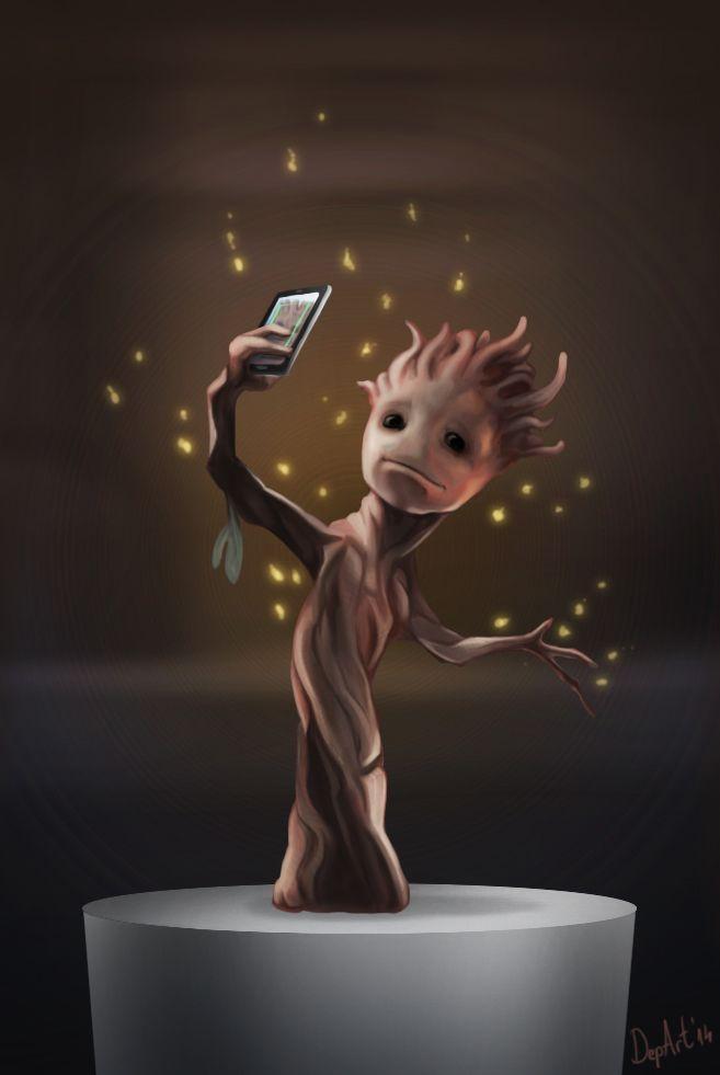 Groot Selfie by Departedpro