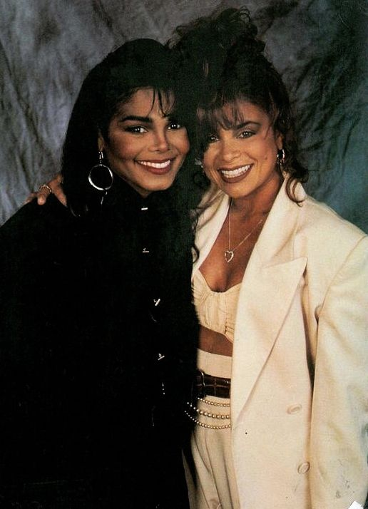 Janet Jackson with her then-choreographer, Paula Adbul (1990).