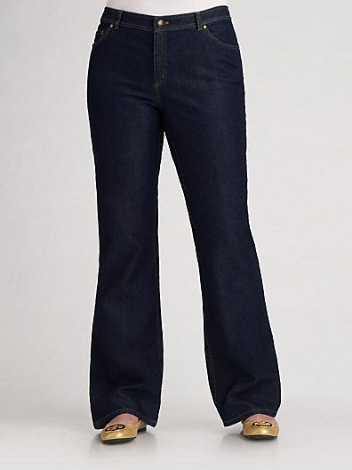 The Best Plus Size Trouser Jeans: Lafayette 148 New York Salon Z Five-Pocket Jeans