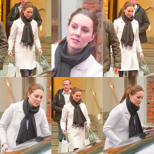 Kate spotted out shopping yesterday. (January 12, 2015) I have tons of homework so I haven't had much extra time but @katemiddletonphotos made a great collage!