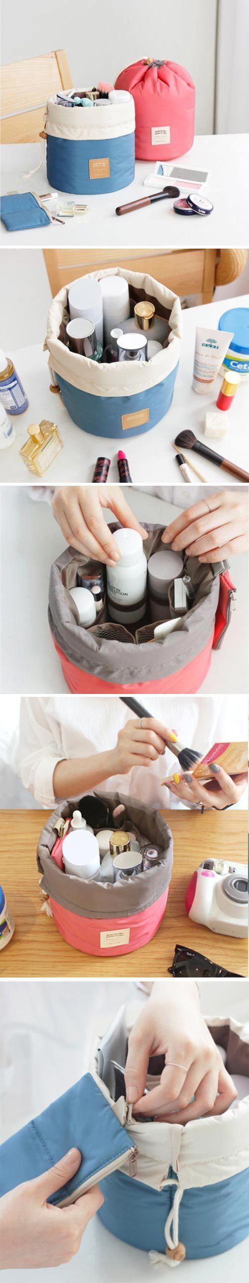 $5.47 Woman Cosmetic Storage Kit Toiletry Kit Bathroom Amenities Travel Storage Bag