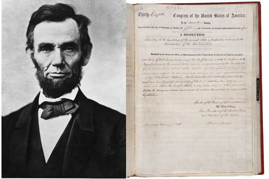 Les amendements de la reconstruction Après la guerre de Sécession, commence dans le sud la reconstruction. Les États du Sud sont occupés militairement, leurs institutions suspendues. Le Congrès propose trois amendements (13e, 14e et 15e), tous trois liés à la question de l'esclavage et de ses suites, tous trois restreignant les pouvoirs des États.