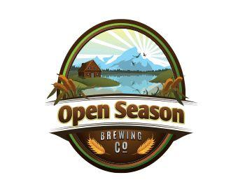 Open season brewing company at https://www.LogoArena.com - logo by clairde