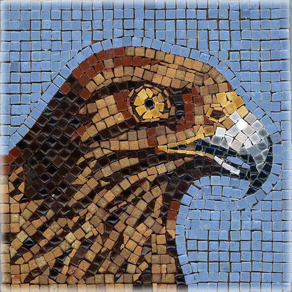Mosaic Eagle Mosaik Adler Mosaique Aigle Micro Ceramic Tiles Kit Alea