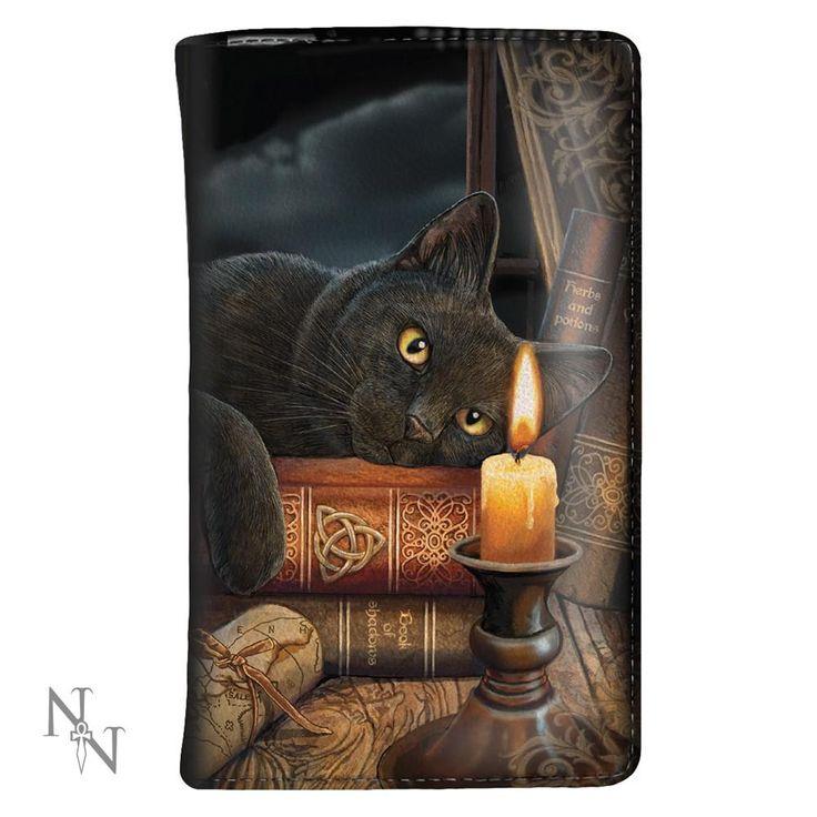 The Witching Hour - Kat met kaars portemonnee Multicolours – Fantasy – Nemesis Now
