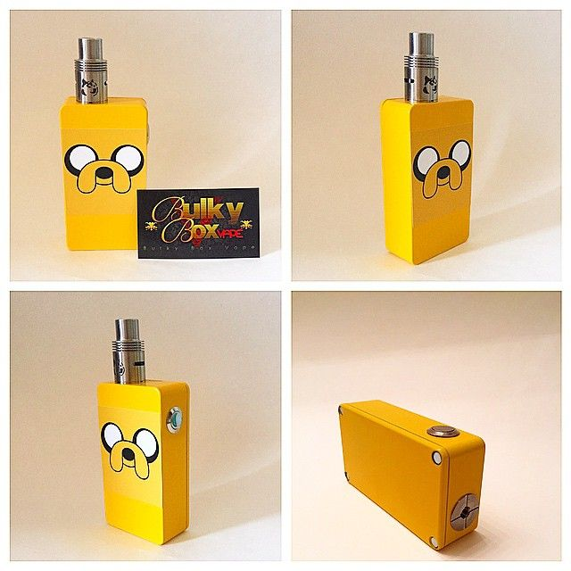 Introducing  the #AdventureTime #jake #boxmod available on ebay or email me for info and pricing, #bulkyboxvape #bulkybox #dual18650 #subohm #vape #vaping #vape4life #vapelife #clouds #Padgram