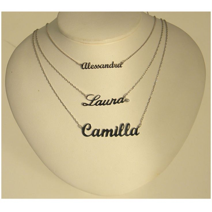 9 Best Collana Con Nome Images On Pinterest Gold