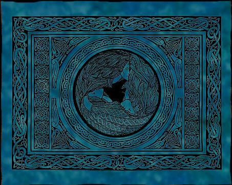 Passiflora Triple Goddesses on Water Celtic Tapestry