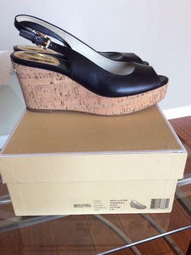 caa3555c35d Michael Kors Wedges- Natalia Sling- Black leather-9M- New In Box ...