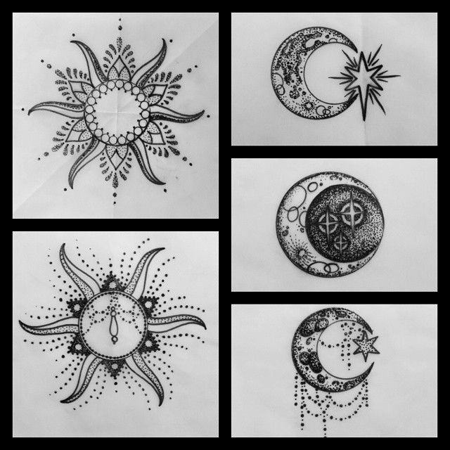 Simple Henna Moon Design Drawing Pictures Www Picturesboss Com